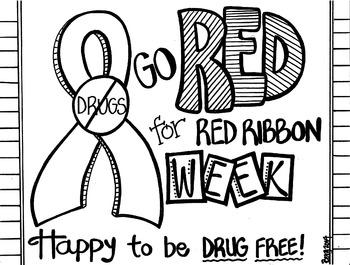 350x265 Red Ribbon Week Coloring Sheet