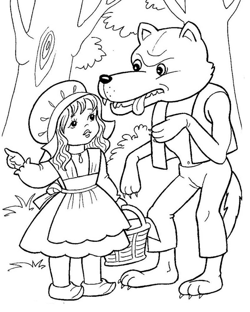 799x1000 Little Red Riding Hood Coloring Pages Awesome