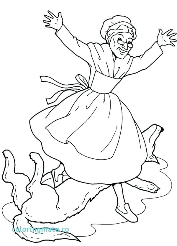 600x834 Little Red Riding Hood Coloring Sheet Free Printable Little Red