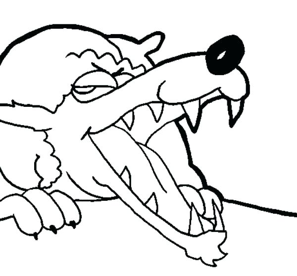 600x558 Red Riding Hood Coloring Pages Evil Wolf Little Red Riding Hood
