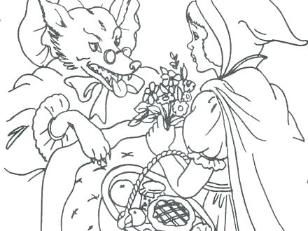 440x330 Red Riding Hood Coloring Pages Image Detail For Coloring Pages