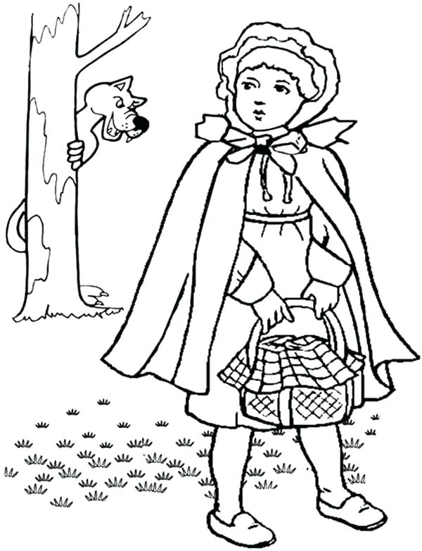 600x782 Red Riding Hood Coloring Pages Little Red Riding Hood Coloring