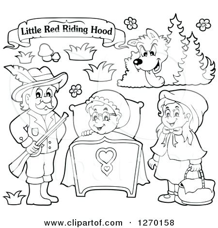 450x470 Red Riding Hood Coloring Pages Red Riding Hood Black And White
