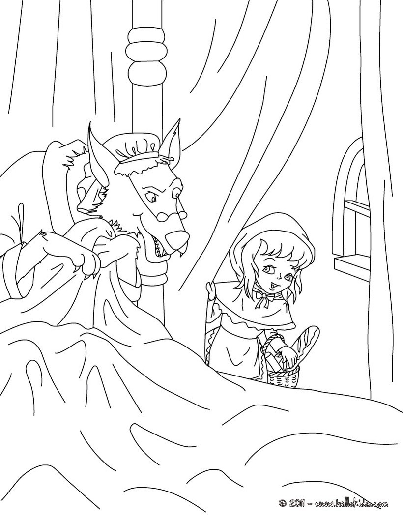 820x1060 The Little Red Riding Hood Fairy Tale Coloring Pages Hellokids Com