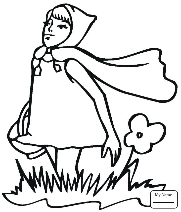 728x850 Little Red Riding Hood Coloring Pages Little Red Riding Hood