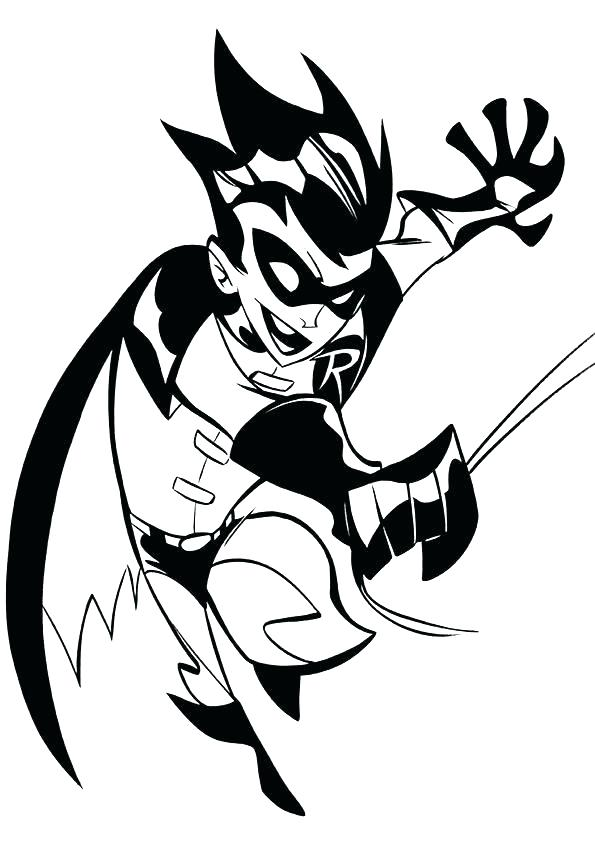 595x842 Robin Coloring Page Robin Coloring Pictures Batman And Robin