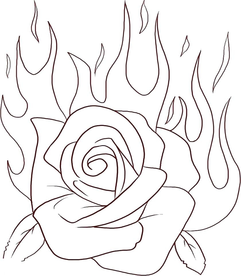 840x964 Great Red Roses Coloring Pages Beautiful For Rose Lively Girls