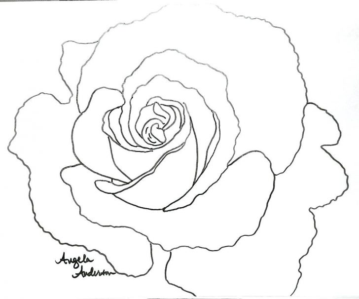 728x606 Red Rose Pic With I Love U Best Flower Coloring Page Heart