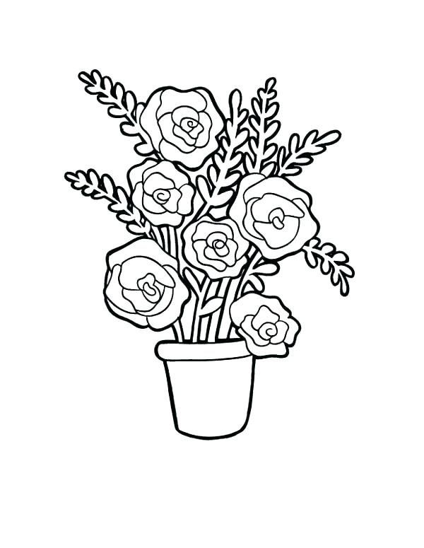 600x775 Coloring Pages Flowers And Hearts Coloring Roses Pages Flower