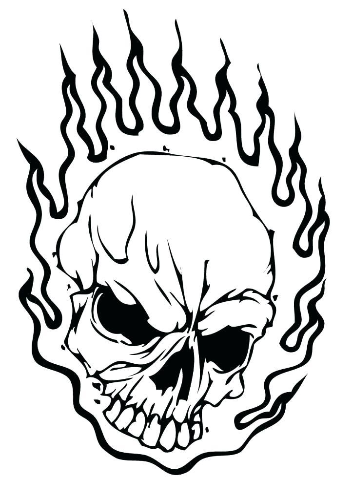724x1024 Skull Coloring Pages Skull Coloring Pages Flaming Skull Coloring