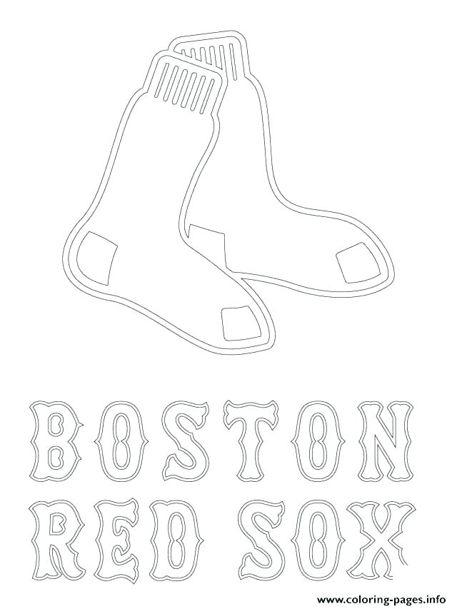 640x853 Boston Red Sox Coloring Pages Red Logo Coloring Page Red Coloring