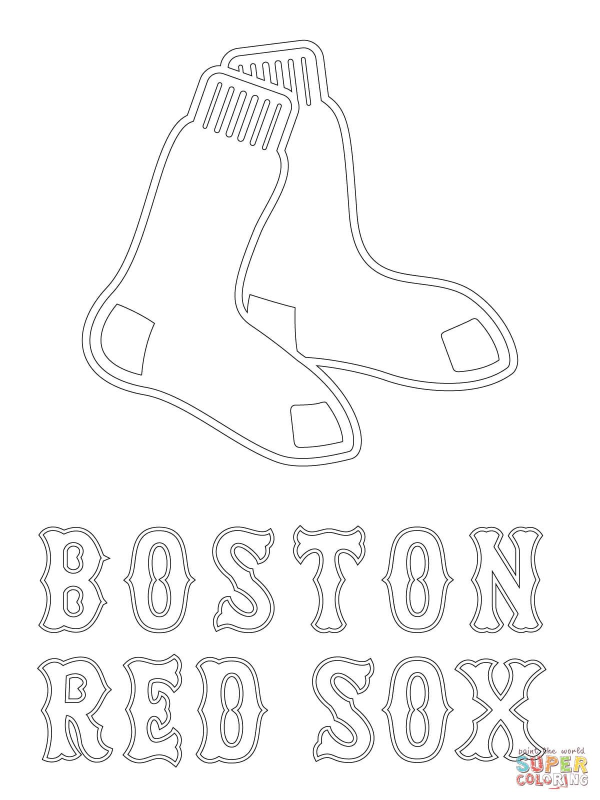 1200x1600 Boston Red Sox Logo Coloring Page In Red Sox Coloring Pages