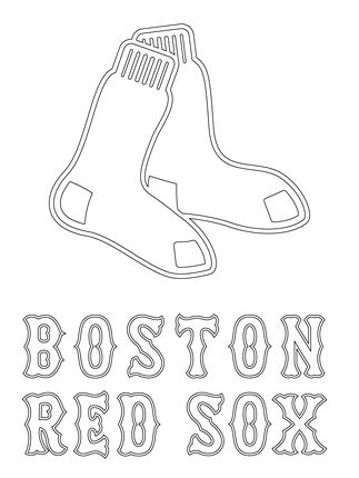 323x430 Boston Red Sox Logo Coloring Page Sport Logos