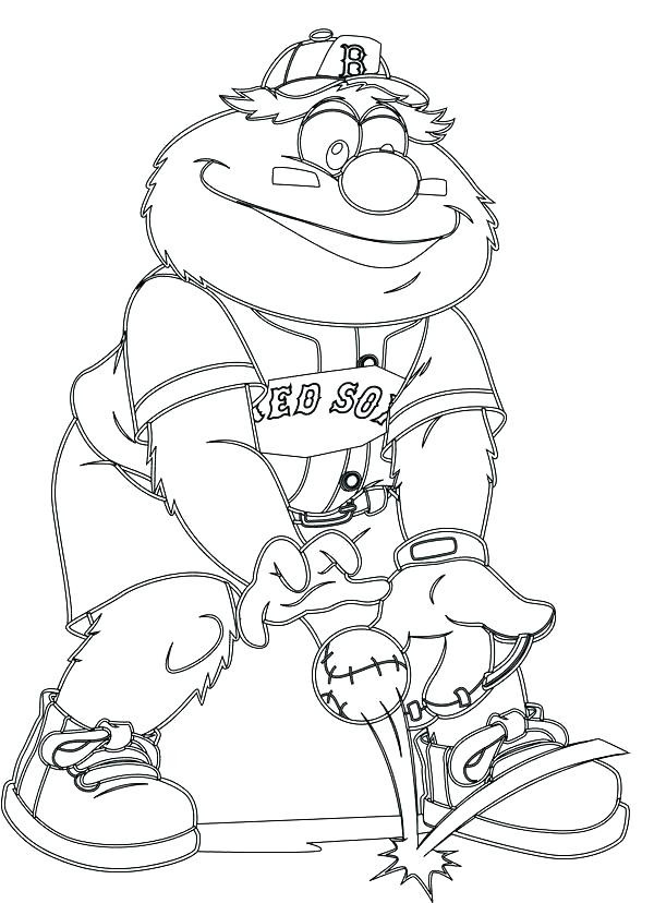 600x828 Coloring Pages Of Red Sox Boston