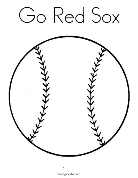 468x605 Go Red Sox Coloring Page