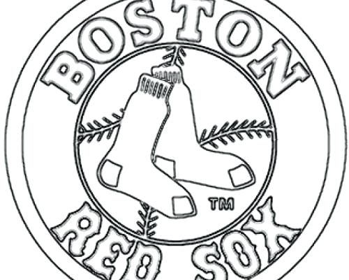 500x401 Red Sox Coloring Pages Red Sox Coloring Pages Red Logo Red Sox