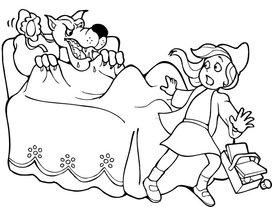 887x678 Posts Related Surprised See The Little Red Wolf Coloring Pages
