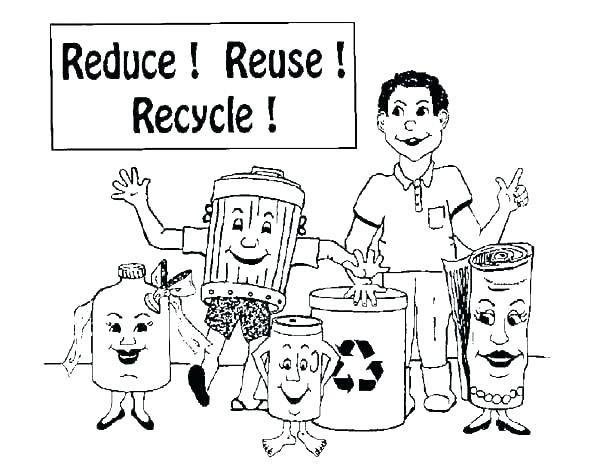 600x473 Recycle Coloring Pages Recycling Coloring Pages For Kids Recycling