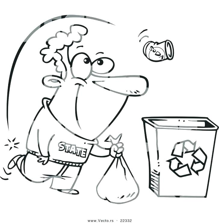 728x742 Recycle Coloring Pages Recycling Coloring Pages Recycling Coloring