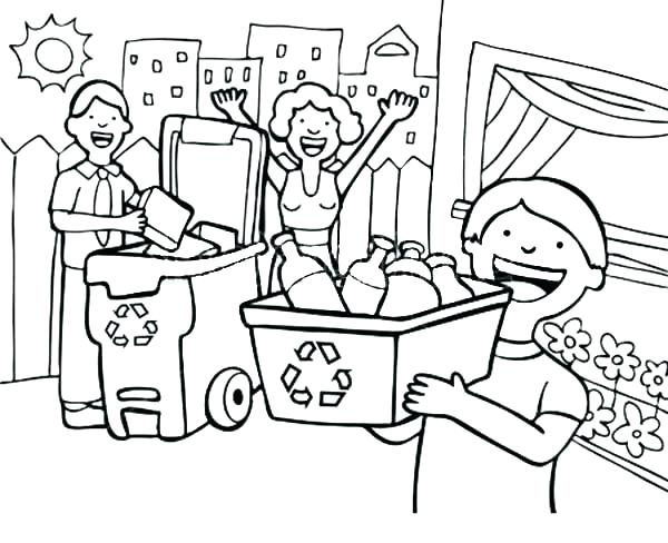 600x488 Recycling Coloring Pages Recycle Coloring Pages Recycling Coloring