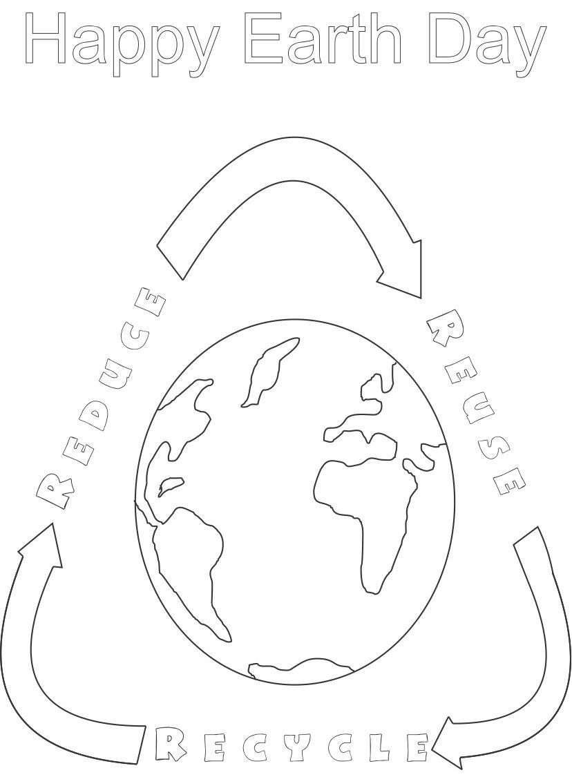 Reduce Reuse Recycle Coloring Pages at GetDrawings.com ...