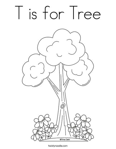 468x605 T Is For Tree Coloring Page