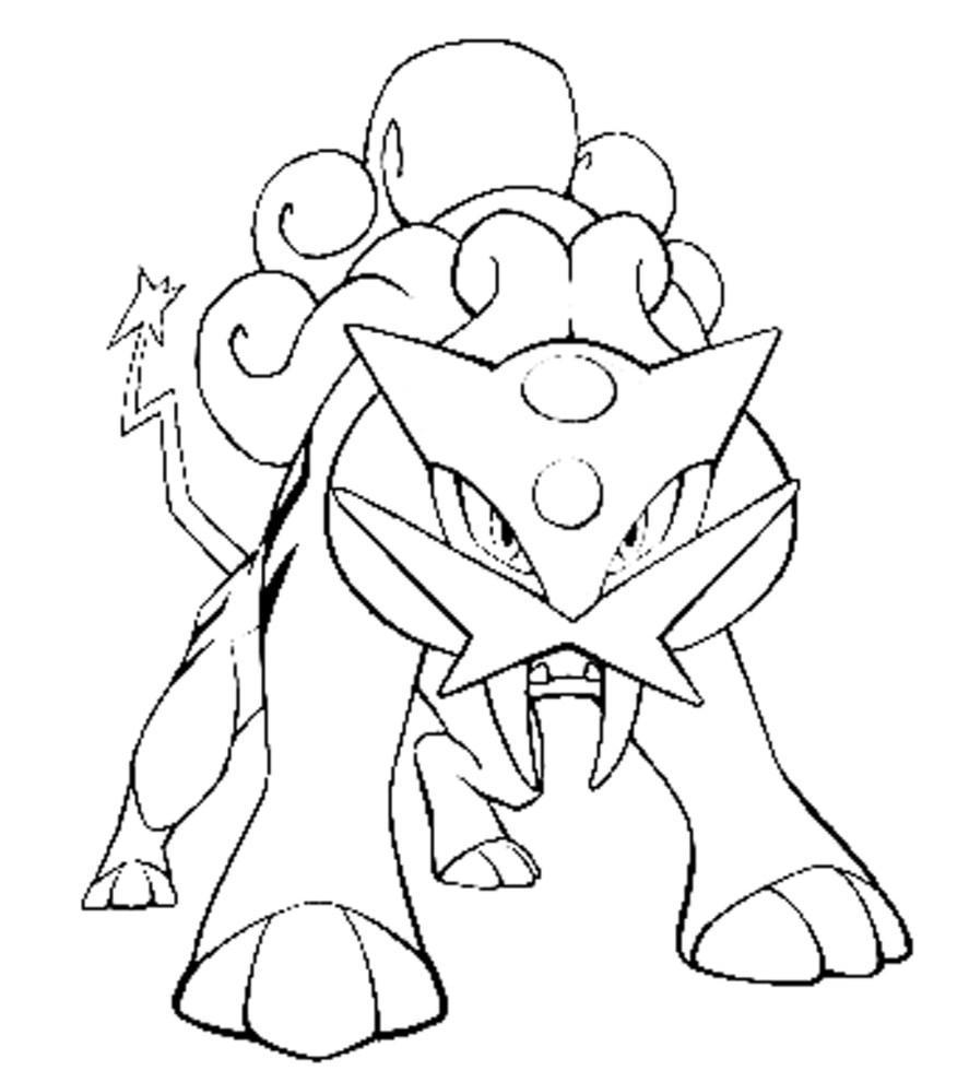 887x990 Awesome Regirock Pokemon Coloring Pages Pict Of Hydreigon Style