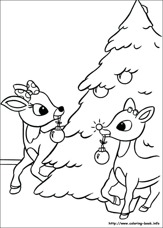 567x794 Reindeer Antlers Coloring Pages The Red Nosed On Book Coloring