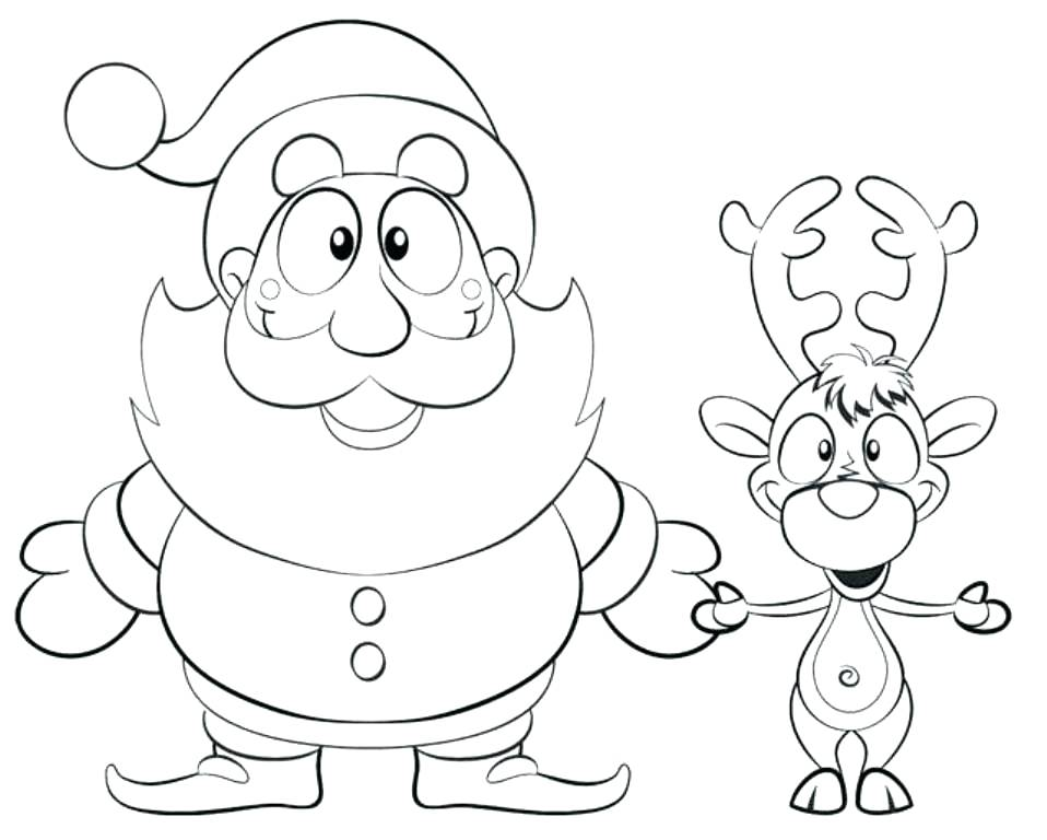 958x768 Reindeer Coloring Page The Red Nosed Reindeer Coloring Pages