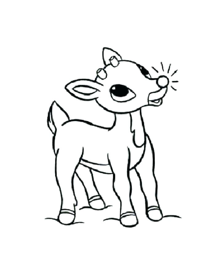 722x850 Reindeer Coloring Sheets Baby The Red Nosed Reindeer Coloring Page