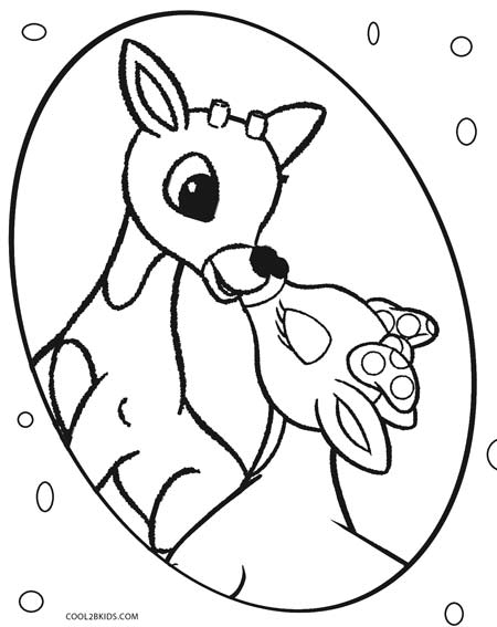 450x567 Printable Rudolph Coloring Pages For Kids