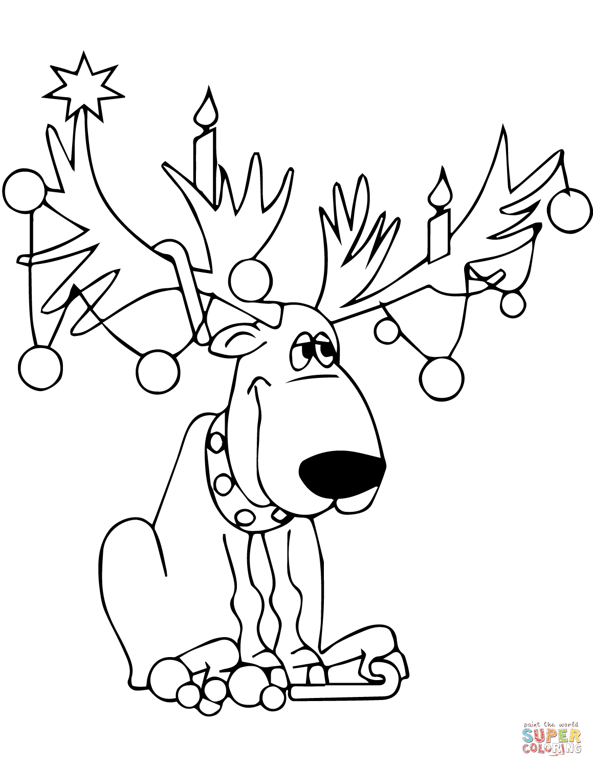 1159x1500 Reindeer Coloring Page Printable Coloring Pages
