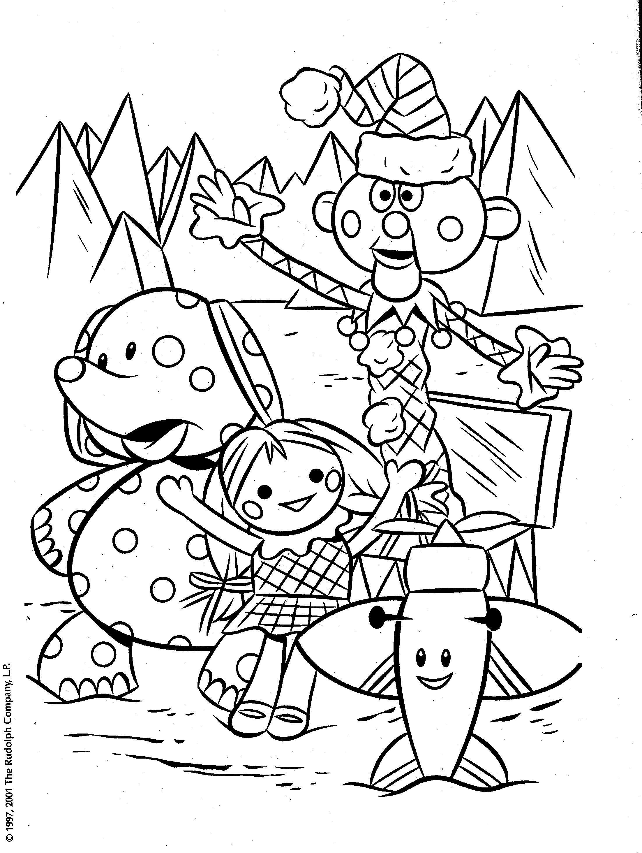 2204x2927 Rudolph Misfit Toys Coloring Pages Grammy Picks