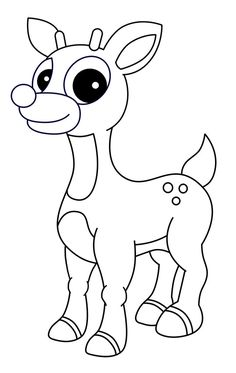 236x373 Rudolph Reindeer Coloring Page Holiday