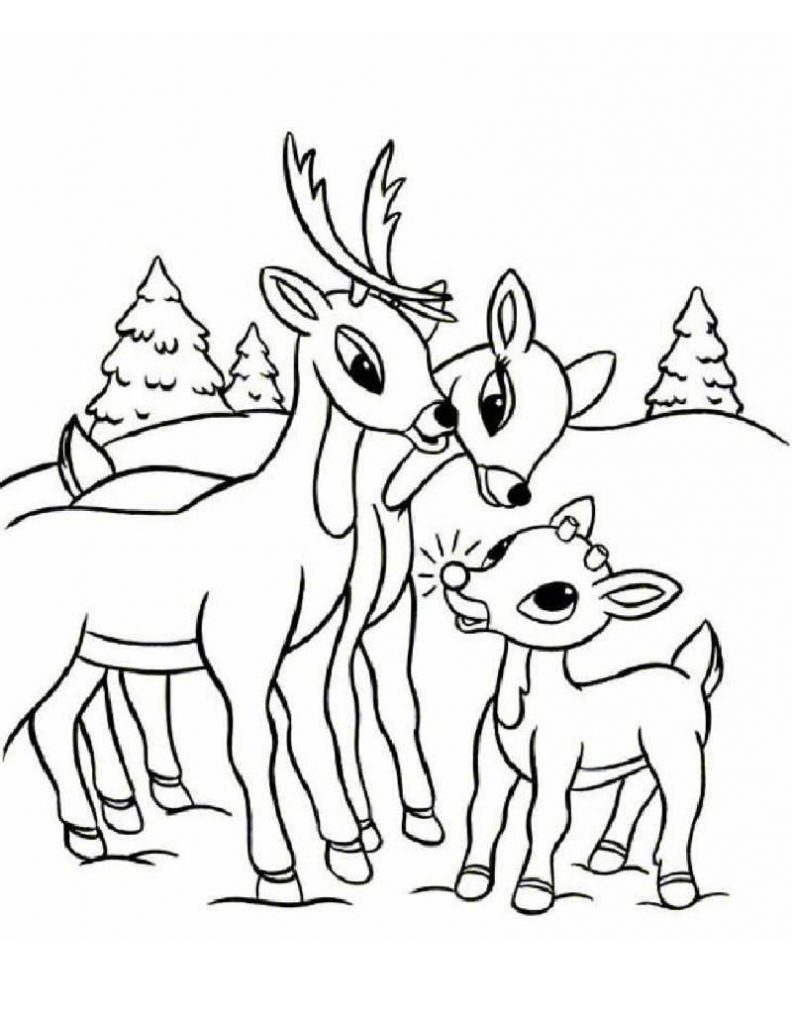 792x1024 Rudolph The Red Nosed Reindeer Coloring Page