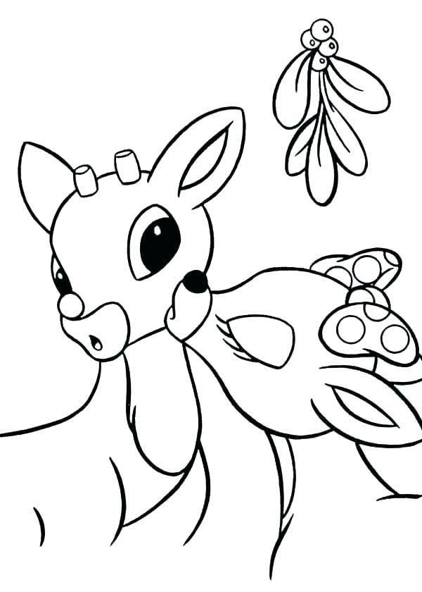 600x840 Coloring Pages Of Rudolph And Santa