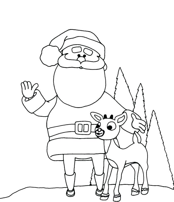 687x798 Coloring Pages Reindeer