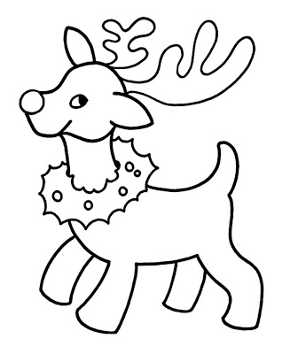 327x400 Picture Coloring Book Cartoon Reindeer Coloring Pages