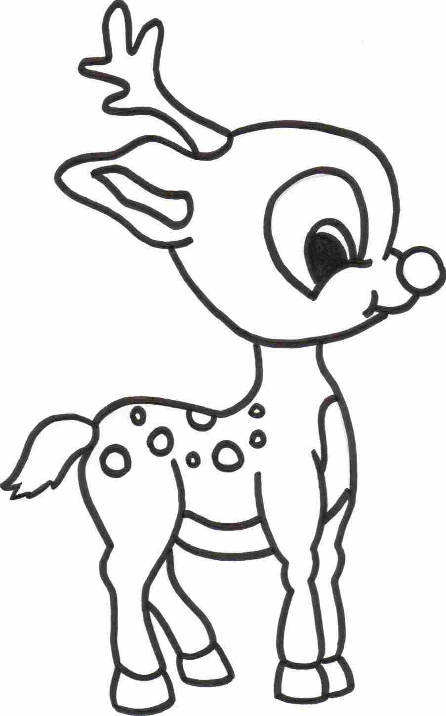 903x1449 Cute Reindeer Coloring Pages Wagashiya