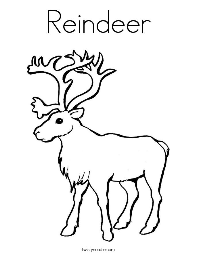 685x886 Reindeer Coloring Page