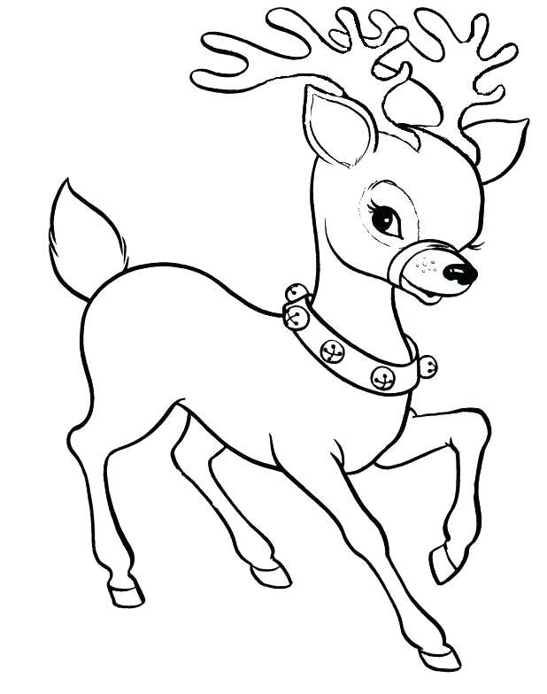 618x784 Reindeer Coloring Page Reindeer Coloring Pages Reindeer Coloring