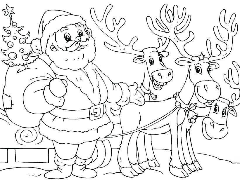 821x620 Free Reindeer Coloring Pages Coloring Pages The Red Nosed Reindeer