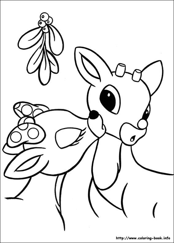 567x794 Rudolph The Red Nosed Reindeer Coloring Picture Coloring Pages