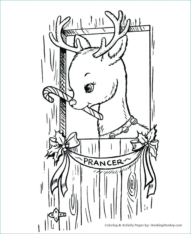670x820 Santa And Reindeer Coloring Pages