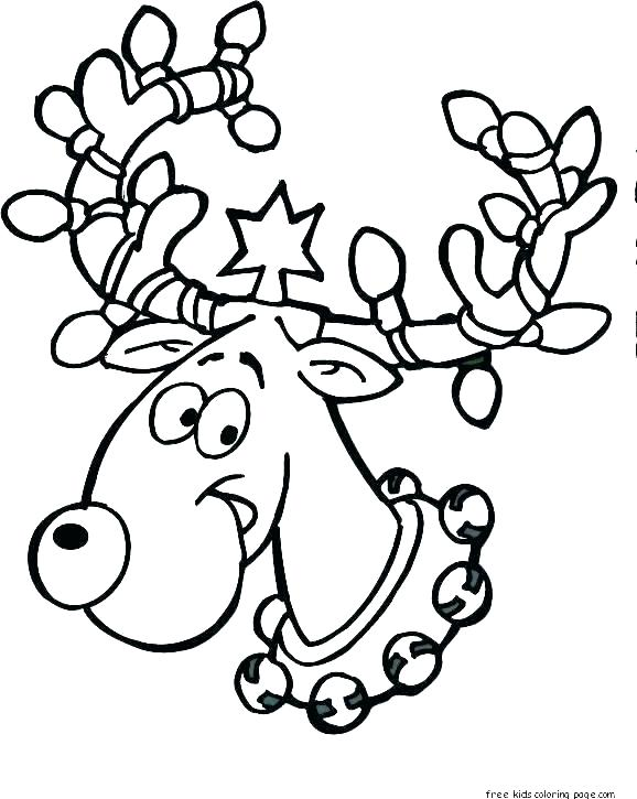 578x725 Free Reindeer Coloring Pages Coloring Page Free Rudolph Coloring