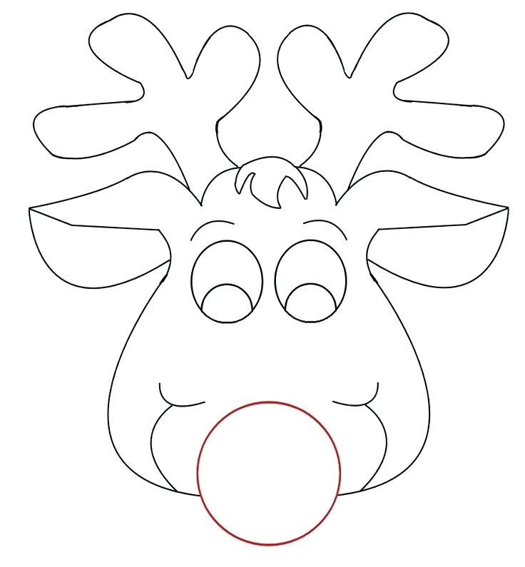 photograph relating to Printable Reindeer Face named Reindeer Confront Coloring Webpages at  Cost-free for