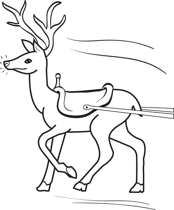 581x700 Reindeer Coloring Sheet Reindeer And Snowman Coloring Pages