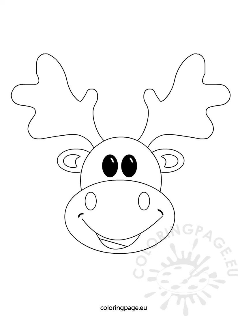 825x1095 Reindeer Face Coloring Pages Bltidm For Alluring Page Wagashiya