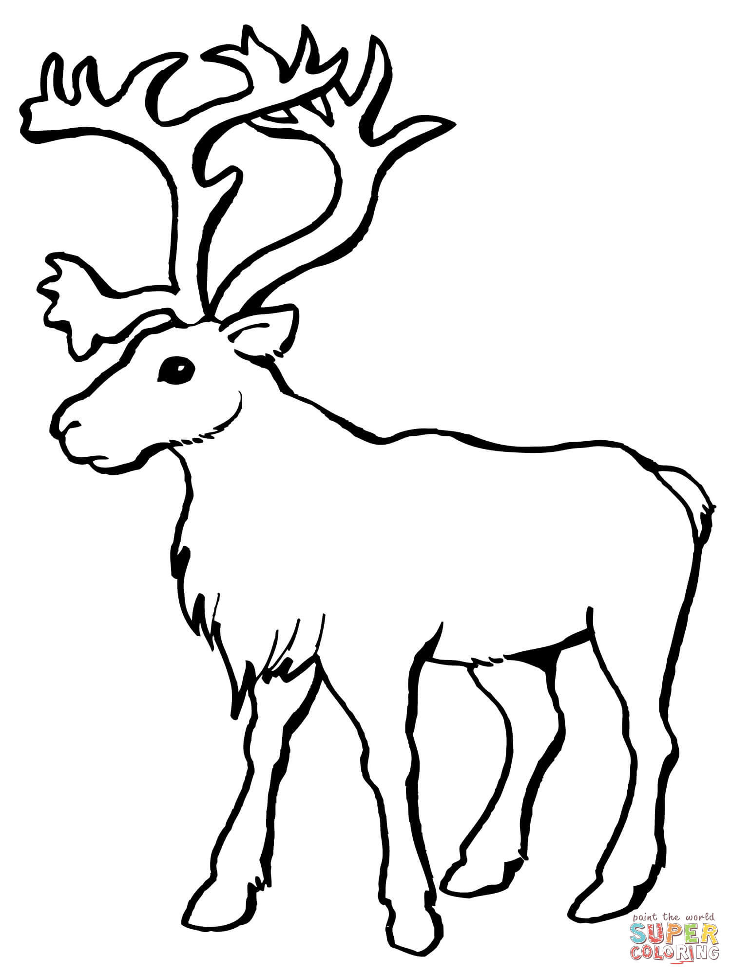 1500x2000 Caribou Coloring Pages Yahoo Image Search Results Winter