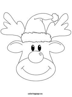 236x318 Rudolph Reindeer Face Craft For Coloring Responses On Rudolph